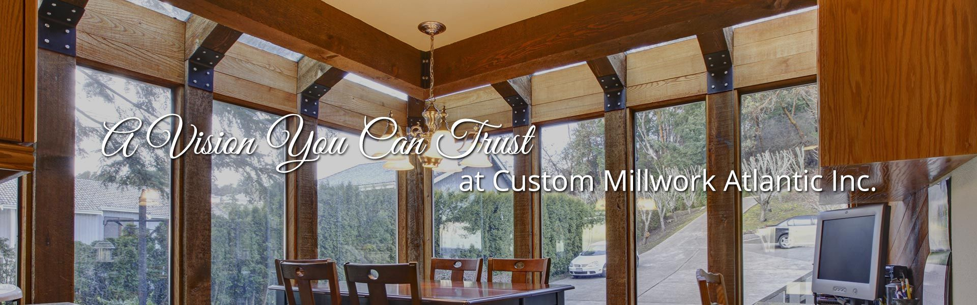 A Vision You Can Trust at Custom Millwork Atlantic Inc. | kitchen with custom moulding